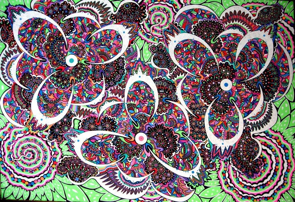 2010-butterfly-flowers  (100x70)